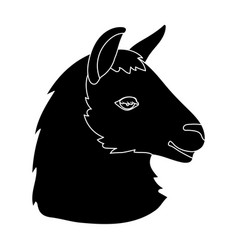 lama icon in black style isolated on white vector image