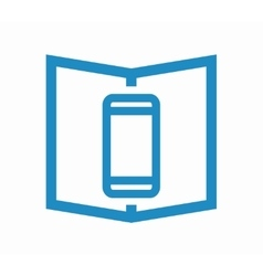 logo combination of a book and phone vector image vector image