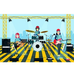 Band concert vector image vector image