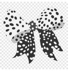 Cartoon bow black sign vector image