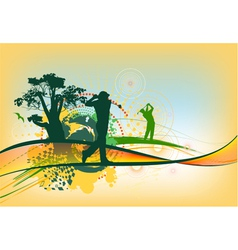 colorful golf background vector image vector image