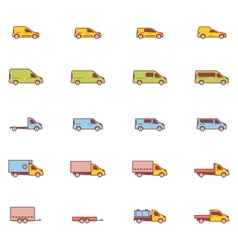 commercial transport icons vector image