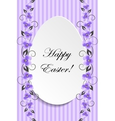 Happy Easter Vintage style Easter greeting card vector image vector image