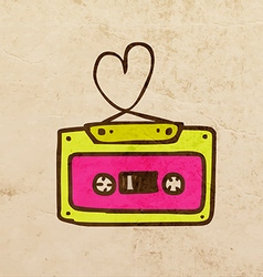 Mixtape Cartoon vector image