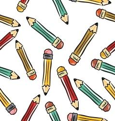 pencils background vector image vector image