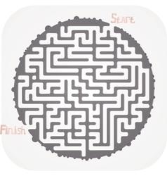 Abstract maze vector image