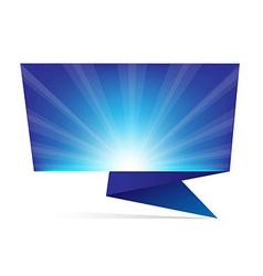Blue Sunburst Origami vector image vector image