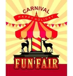 Carousel fun fair vector image