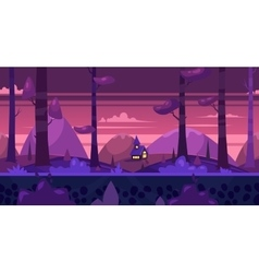 Cartoon nature seamless landscape with night vector image vector image
