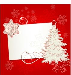 Christmas place card vector image vector image