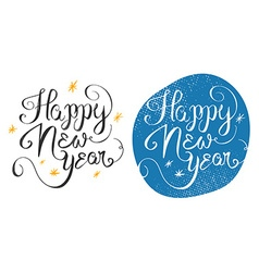 Happy New Year 2016 handmade greeting card design vector image