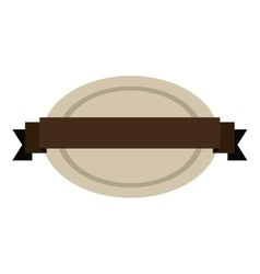 oval shape seal stamp with brown label center vector image