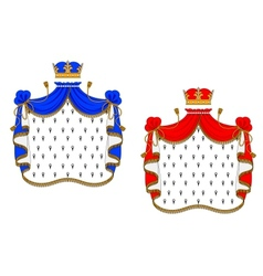 Red and blue royal mantles vector image vector image