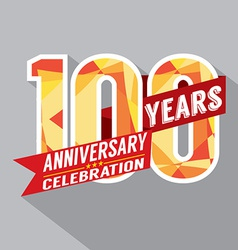 100th Years Anniversary Celebration Design vector image vector image
