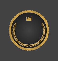 golden and black luxury metallic badge template vector image vector image