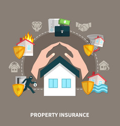 property insurance composition vector image