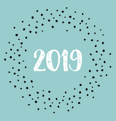 2019 sign on blue background vector image