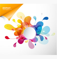 Abstract colored flower background with circles vector