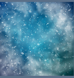 abstract snowy background vector image