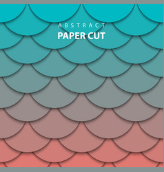 background with turquoise and coral color paper vector image