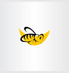 Bee icon clip art symbol vector