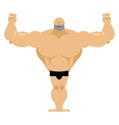 Big strong male athletics Bodybuilder with huge vector image