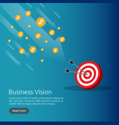 business vision strategy concept arrow to vector image