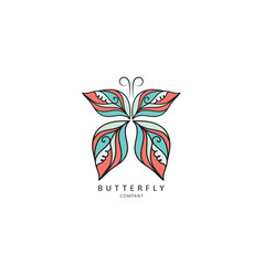 butterfly logo template for cosmetic spa vector image