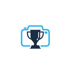 camera trophy logo icon design vector image
