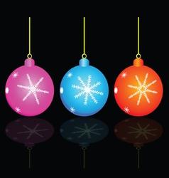 christmas decorativ ball vector image