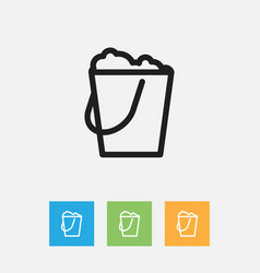 Cleaning symbol on pail vector
