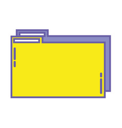 Color folder file to save documents information to vector