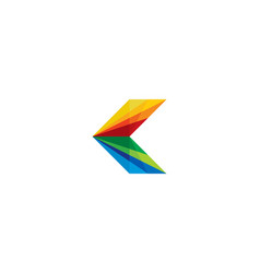 Color letter k logo icon design vector