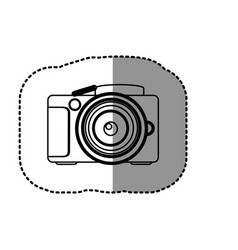 Contour camera icon image vector