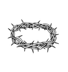 Crown of thorns antique tool for pain ink vector