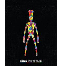 Decorative man on grunge background vector image