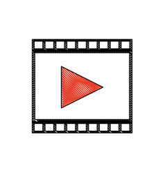 Drawing strip film play movie cinema symbol vector