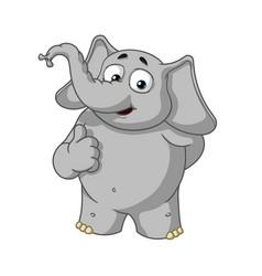 elephant character he raised a finger like vector image