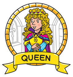 Emblem of queen or princess vector