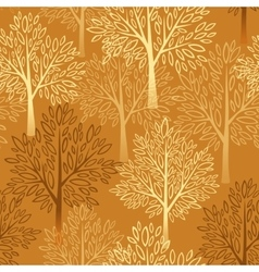 Fall season background Autumn tree seamless vector image