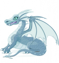 Fantasy dragon vector