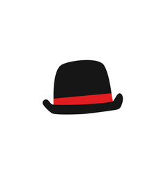 flat old british english gentleman hat vector image