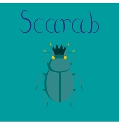 flat on background bug scarab vector image