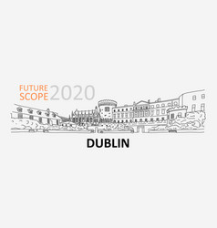 Future scope 2020 in dublin technology conference vector