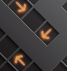 Glowing arrows indicate the direction vector