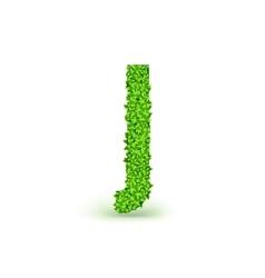 Green Leaves font J vector image