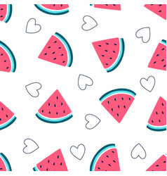 hand drawing pattern seamless watermelon il vector image