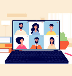 home video call online work conference virtual vector image