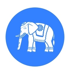 Indian elephant icon in black style isolated on vector image