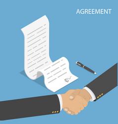 Isometric flat concept agreement vector